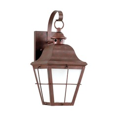 Frosted Seeded Glass Outdoor Wall Light Copper Sea Gull Lighting  sc 1 st  Destination Lighting & Copper Outdoor Wall Lights | Copper Exterior Lighting