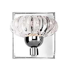 Modern Chrome LED Sconce with Clear Shade 3000K 229LM