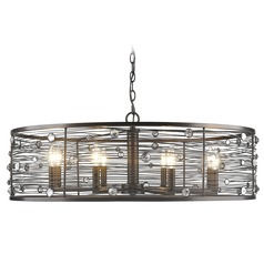 Bijoux 8 Light Chandelier in Brushed Etruscan Bronze