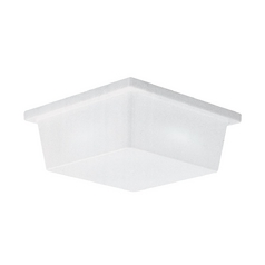 Close To Ceiling Light with White in White Plastic Finish