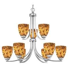 Design Classics Dalton Fuse Chrome Chandelier