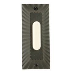 Craftmade Lighting Die-Cast Builder's Plus Weathered Black LED Doorbell Button