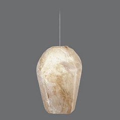 Fine Art Lamps Natural Quartz Stone Pendant