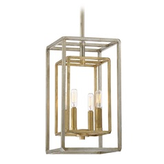 Mid-Century Modern Mini-Pendant Light Argentum and Gold Berlin by Savoy House
