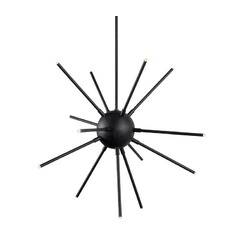 Kenroy Home Atom Forged Graphite LED Chandelier