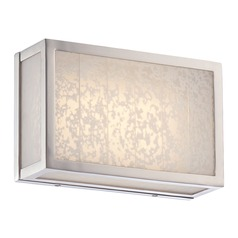 Metropolitan Lake Frost Polished Nickel LED Bathroom Light