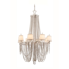 Chandelier Light with Crystal Draped Beaded Jewelry Accents - 9 Lights