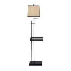 Linear Floor Lamp with Tray with Shade