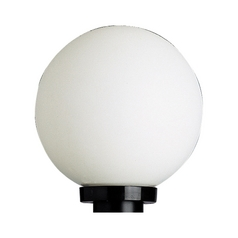 Mid-Century Modern Post Light Black Acrylic Globe by Progress Lighting