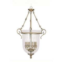 Livex Lighting Legacy Antique Brass Pendant Light