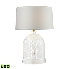 Dimond Lighting Clear, White LED Table Lamp with Drum Shade