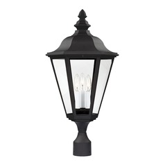 Sea Gull Lighting Brentwood Black LED Post Light