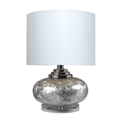 Table Lamp with White Drum Shade