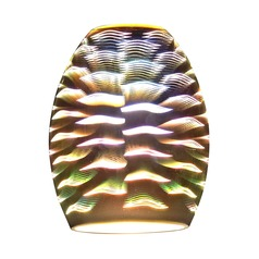 Wave Oblong Art Glass Shade