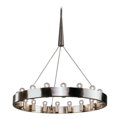 Industrial Chandelier 18-Light Brushed Nickel by Robert Abbey