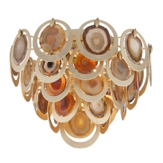 Corbett Lighting Rock Star Gold Leaf Flushmount Light
