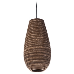 Maxim Lighting Java Black Mini-Pendant Light with Oval Shade