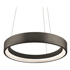 Elan Lighting Fornello Sand Textured Black LED Pendant Light