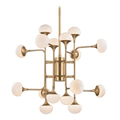 Hudson Valley Lighting Fleming Aged Brass LED Chandelier