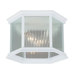 Kingston Textured White Outdoor Ceiling Light by Vaxcel Lighting
