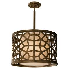 Modern Pendant Light with Brown Shades in Oxidized Bronze Finish