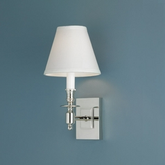 Norwell Lighting Weston Polished Nickel Sconce