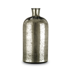 Mercury Glass Bottle Vase - 18 Inches Tall