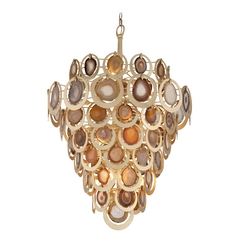 Corbett Lighting Rock Star Gold Leaf Pendant Light