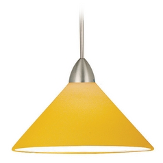 WAC Lighting Contemporary Collection Brushed Nickel LED Mini-Pendant with Conical S