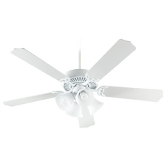 Quorum Lighting Capri V White Ceiling Fan with Light