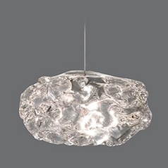 Fine Art Lamps Natural Inspirations Platinized Silver Leaf Mini-Pendant Light