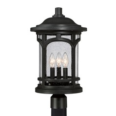 Quoizel Marblehead Mystic Black Post Light