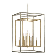 Savoy House Lighting Berlin Argentum and Gold Pendant Light