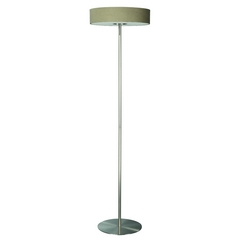Philips Modern Floor Lamp with Natural / Beige Shades in Matte Chrome Finish 374831748