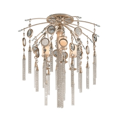 Corbett Lighting Bliss Topaz Leaf Semi-Flushmount Light