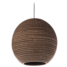 Maxim Lighting Java Black Pendant Light with Globe Shade