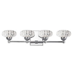 Modern Chrome LED Bathroom Light with Clear Shade 3000K 2000LM