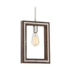 Industrial Pendant Light Brushed Nickel Westerly by Quoizel Lighting