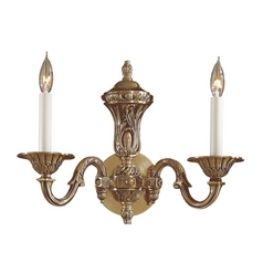 Sconce Wall Light in Antique Classic Brass Finish