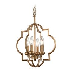 Elk Lighting Chandette Matte Gold Mini-Chandelier