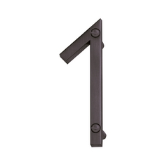 Atlas Homewares Modern House Number in Aged Bronze Finish ZN1-O