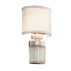 Corbett Lighting Small Talk Silver Leaf Sconce