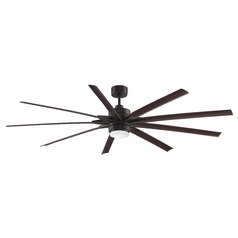 Fanimation Fans Odyn Dark Bronze LED Ceiling Fan with Light