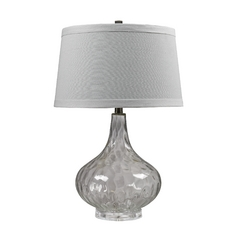 Table Lamp with Clear Water Glass