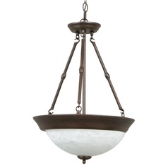 Craftmade Aged Bronze Pendant Light with Bowl / Dome Shade