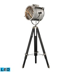 Dimond Lighting Chrome, Black LED Floor Lamp with Cylindrical Shade