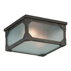 Troy Lighting Hoboken Aged Pewter Close To Ceiling Light