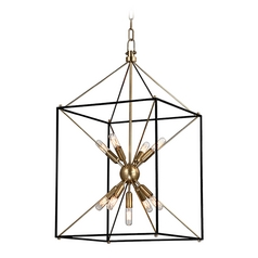 Industrial Pendant Light Brass Glendale by Hudson Valley Lighting