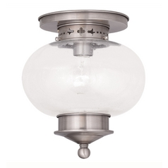 Livex Lighting Harbor Brushed Nickel Close To Ceiling Light
