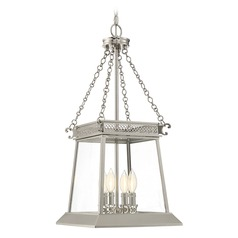 Savoy House Lighting Norwich Polished Nickel Pendant Light with Square Shade